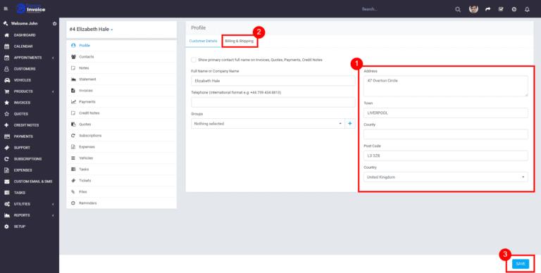 Garage Invoice how to update customer1