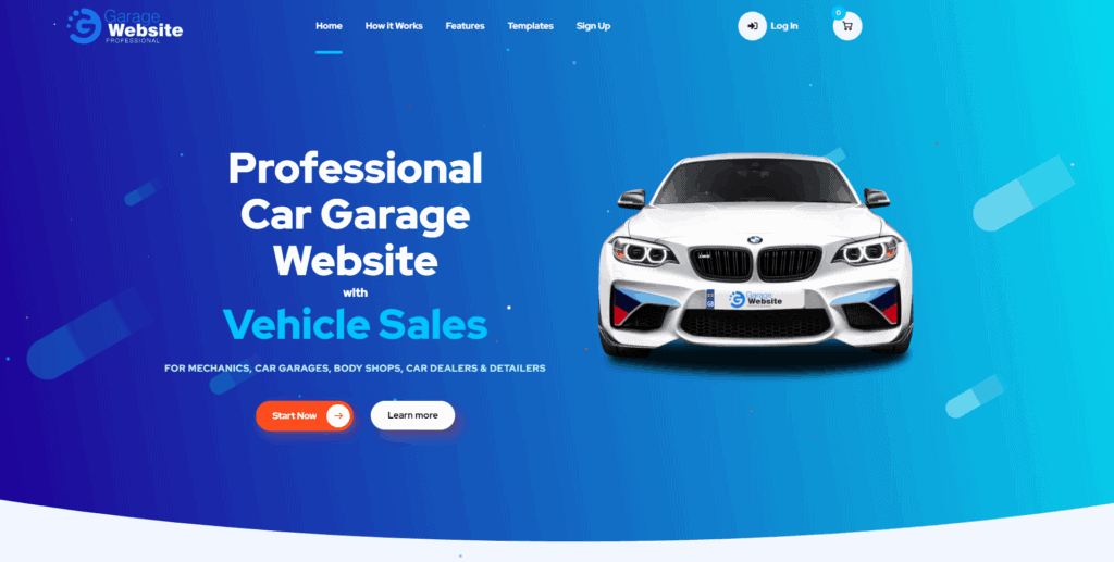 Garage Website Pro